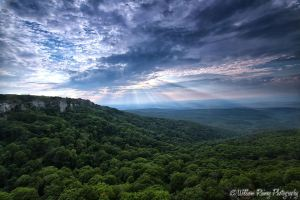 William Raine Fotograpy Sunset and Sunrays Mt Magazine State Park