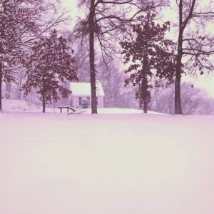snowy chapel